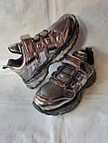 Модные кроссовки. Clibee кроссовки бронзовые для девочки., фото 8