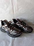 Модные кроссовки. Clibee кроссовки бронзовые для девочки., фото 7