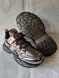 Модные кроссовки. Clibee кроссовки бронзовые для девочки., фото 6