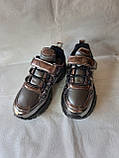 Модные кроссовки. Clibee кроссовки бронзовые для девочки., фото 3