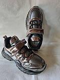 Модные кроссовки. Clibee кроссовки бронзовые для девочки., фото 2