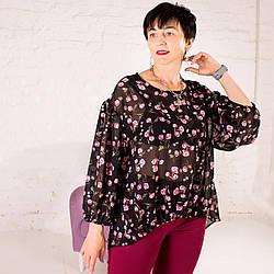 Женская шифоновая блуза Сана в ассортименте