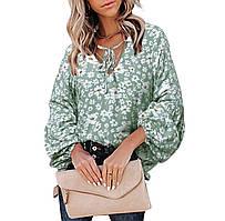 Жіноча блуза квітковий принт 42-46