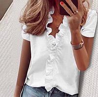 Жіноча блуза з рюшами 42-46