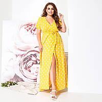 Жіноче літнє плаття максі з запахом
