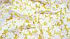 Ткань шифон-коттон органза желтого цвета с цветочным принтом, фото 3