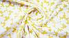 Ткань шифон-коттон органза желтого цвета с цветочным принтом, фото 2