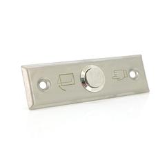 Кнопка выхода врезная, NO/C, нержавейка, максим.ток 3А, 80х30х20мм