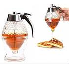 ОПТ Контейнер диспенсер-ємність для меду і соусів з ручкою UKC Honey dispenser об'єм 230 мл скло акрил, фото 8