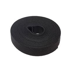 Стяжки на липучке ширина 15мм, рулон 50м, черные, цена за рулон