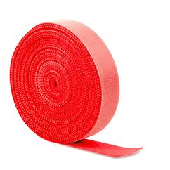 Стяжки на липучке ширина 25мм, рулон 45м, красные, цена за рулон