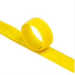 Стяжки на липучке ширина 25мм, рулон 45м, желтые, цена за рулон