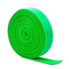 Стяжки на липучке ширина 15мм, рулон 45м, зеленые, цена за рулон