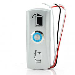 Кнопка выхода накладная EXIT 805 узкая (накладная, алюминиевая) с подсветкой