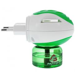 Электрофумигатор от комаров Раптор, жидкость на 30 ночей