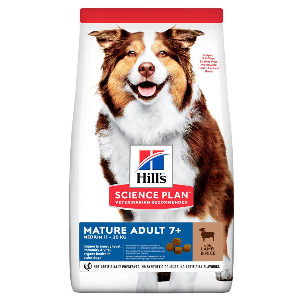 Hill's SCIENCE PLAN Mature Adult Medium Сухий Корм для Собак з Ягням і Рисом - 14 кг