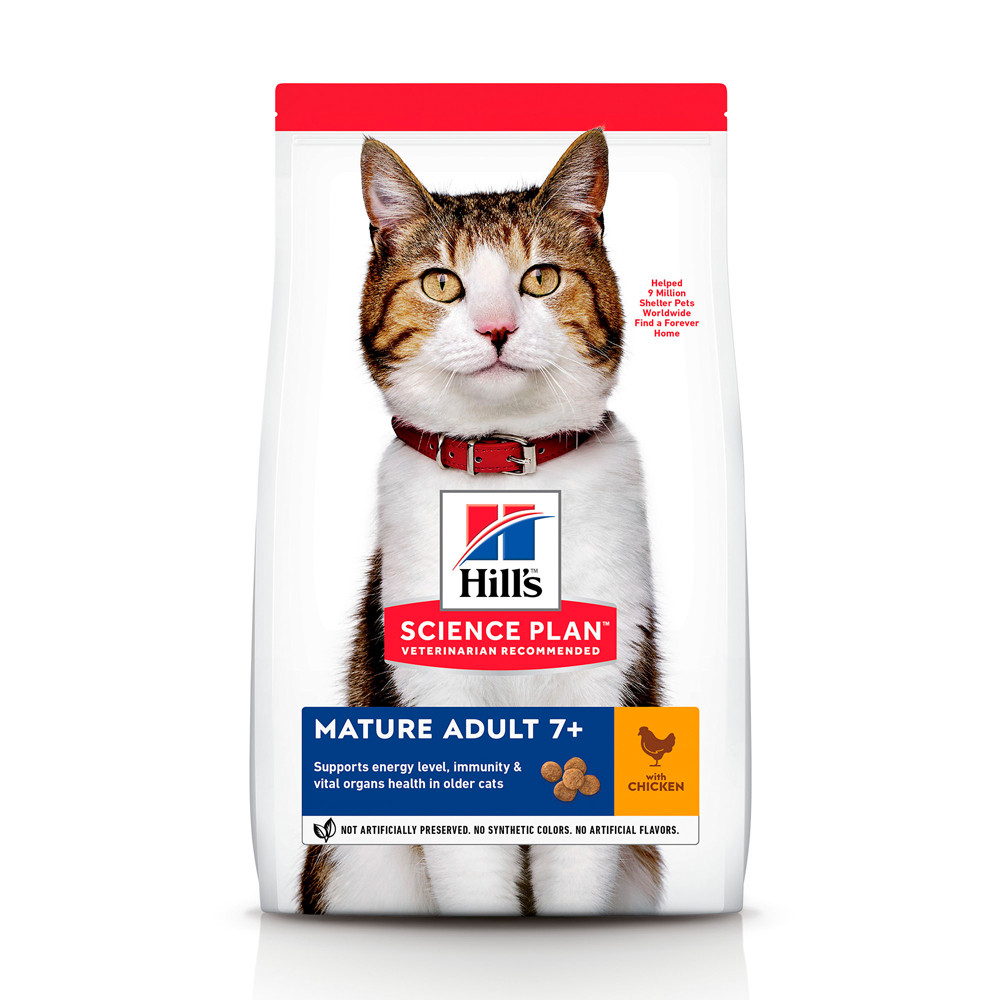 Hill's SCIENCE PLAN Mature Adult Сухий Корм для Котів з Куркою - 10 кг