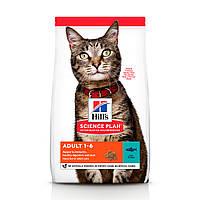 Hill's Science Plan Feline Adult Optimal Care Tuna 10 кг сухий корм для котів з тунцем, фото 1