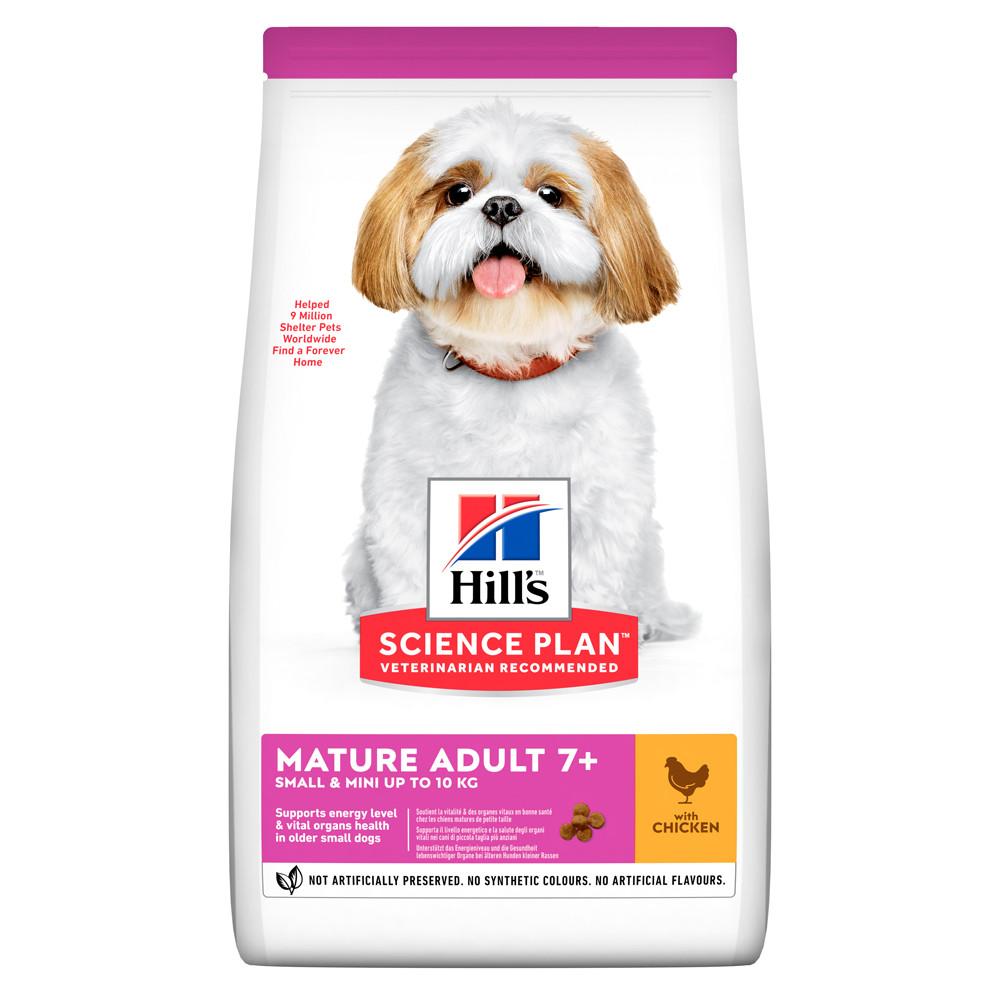 Hill's Science Plan Mature Adult 7+ Small & Mini Chicken 1,5 кг сухий корм для зрілих собак малих порід курка