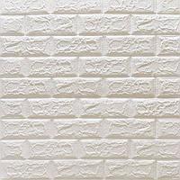3д панель стіновий декоративний Білий Цегла (самоклеючі 3d панелі для стін оригінал) 700x770x5 мм