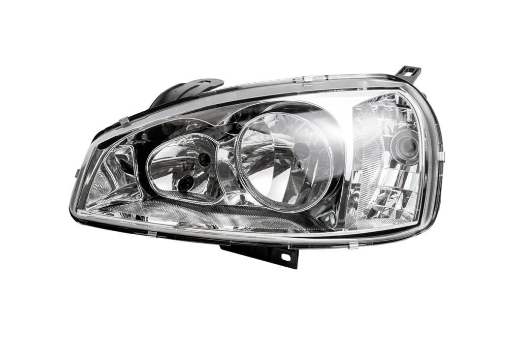 Фара ВАЗ 1118 левая стекло, под 4 лампочки, без лампочки Формула Света