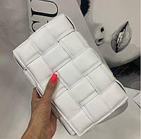 Сумка женская кожаная Италия Люкс Тренд 2021 белая сумка  кроссбоди через плечо модная новинка, фото 1