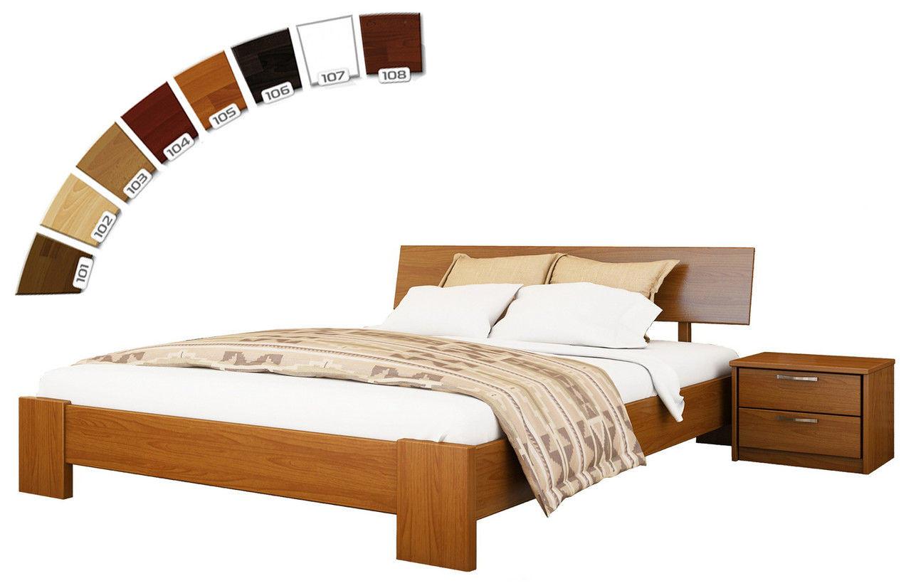Ліжко півтораспальне в спальню з натуральної деревини буку Титан Естелла