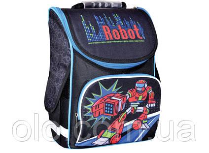 Рюкзак школьный каркасный Smart Robot Черный (553023)