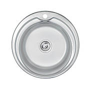 Кухонная мойка Lidz 510-D 0,6 мм Satin (LIDZ510D06SAT180)