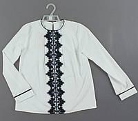 Рубашка для девочек , Артикул: N704-белый  , 128-140  рр [128 СМ] {есть:128 СМ,134 СМ,140 СМ}