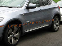 Боковые пороги оригинальные OEM Style BMW X6 2008-14 , фото 1