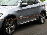 Боковые пороги оригинальные OEM Style BMW X6 2008-14