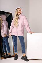 Тепла жіноча куртка-пуховик теплий зимовий, кольори в асортименті, р. 42-46 Код 1021L