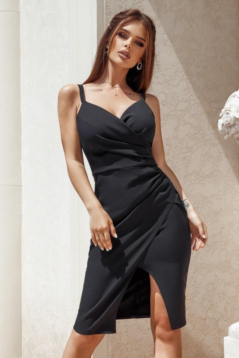 Жіноче плаття завдовжки до колін з імітацією запаху