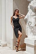 Жіноче плаття завдовжки до колін з імітацією запаху, фото 3