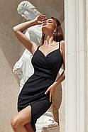 Жіноче плаття завдовжки до колін з імітацією запаху, фото 4