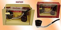 Трубка Falcon 6227220 изогнутая 2 чашки,3 ерша,уп 25 фильтр.колец в подар. короб