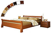 Ліжко односпальне в спальню, дитячу з натуральної деревини буку Діана Естелла