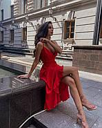 Легкий літній сарафан асиметричного крою на бретельках, з воланами, фото 2