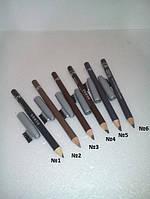 800 Julia карандаши для бровей со щеточкой (Продаётся поштучно) ( В наличии № 1,5,6 ) №2,3,4 НЕТ