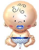 Воздушный Шар из фольги Карапуз малыш пупс мальчик 50 х 80см