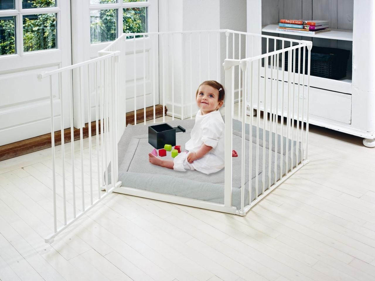 Детский манеж Baby Dan Park A Kid, цвет белый