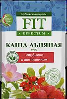Льняна Каша швидкорозчинна ФитПарад Fit Effectum смак Полуниця з Шипшиною пакет-саше (25 грамів)
