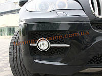 Хром на противотуманные фары (галогенок) на BMW X6 2008-14 , фото 1