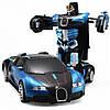 Машинка трансформер Car Robot Bugatti радіокерована Чорно-синя, фото 2