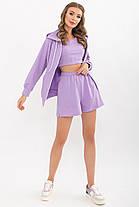 Легкий женский трикотажный костюм кофта с шортами  размеры XS, S, M, L, XL, фото 3