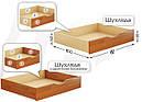 Шухляда підліжкова з дерев'яними боковинами для ліжок Дует, Нота Естелла , фото 2