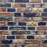 3д панель стіновий декоративний Цегляна кладка Лофт (самоклеючі 3d панелі цегла для стін) 700x770x5 мм