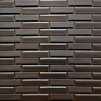 3д стінова панель декоративна Облицювальна цегла Коричневий 3d панелі для стін кладка текстура 700x770x7 мм