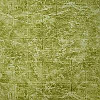 3д панель для декора стен Зеленый Мрамор (самоклеющиеся 3d панели декоративные ПВХ) под кирпич 700x770x5 мм